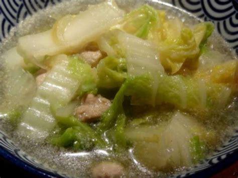 cuisiner du choux chinois recettes de chou chinois et soupe au chou