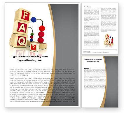 faq template word faq word template 04852 poweredtemplate