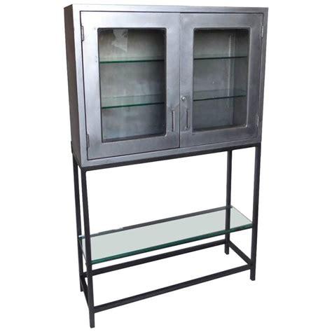 metal cabinet with glass doors vintage metal dentist cabinet with glass doors and custom