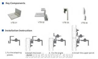 fixing accessories fixing system wall cladding