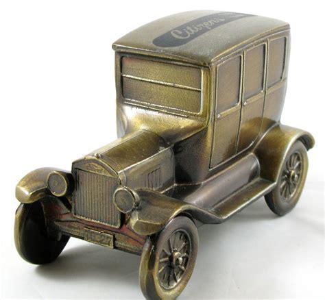 banthrico metal vintage ford model  car coin piggy bank citizens state bank vintage finds