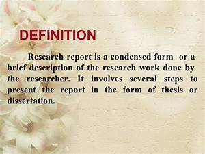 definition report for works mills creative writing definition report for works