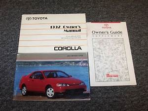 1992 Toyota Corolla Sedan Owner Owner U0026 39 S Operator User Guide Manual Set Deluxe Le