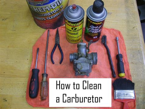 Motorcycle Carb Cleaner How to Clean a Carburetor
