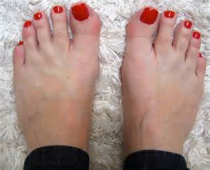 Pretty Red Painted Toenails