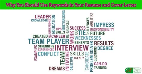 Why Use A Resume by Why You Should Use Keywords In Your Resume And Cover Letter