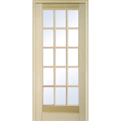 home depot interior glass doors milliken millwork 31 5 in x 81 75 in clear glass