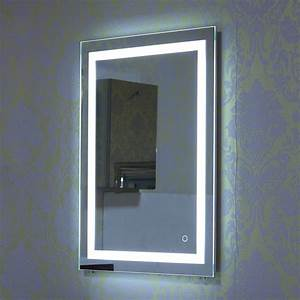 multi sizes illuminated led bathroom mirror with light With lampe salle de bain led