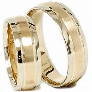 gold matching his hers two tone wedding ring band set ebay With gold matching wedding rings