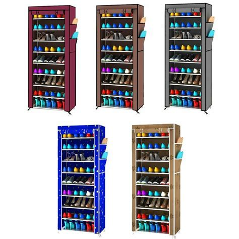 Space Saving Shoe Cabinet by 9 Layer Space Saving Shoe Closet Rack Shelf Storage
