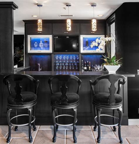 Contemporary Home Bar by 35 Chic Home Bar Designs You Need To See To Believe