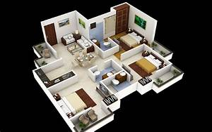 3 Bedroom House Plans 3D Design - Artdreamshome