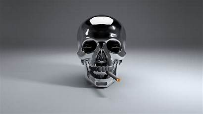 Skull Cigarette Smoke Wallpapers Steel
