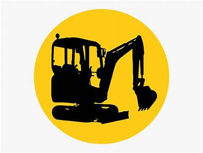 Digger Silhouette Clipart Clip Excavator Getdrawings Yellow