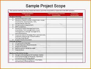8 project scope statement examples letter template word With erp project documentation
