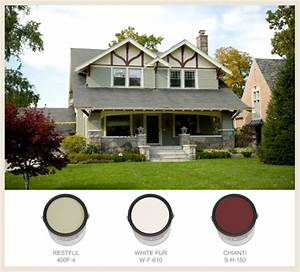 Colorfully behr arts crafts for Arts and crafts exterior paint colors