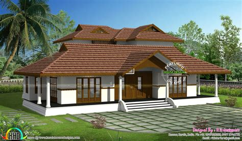 Traditional A Frame Home With Contemporary Style by Kerala Traditional Home With Plan Nalukettu Plans Single