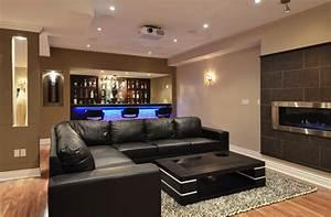21 stunning modern basement designs modern basement for Stylish small finished basement ideas