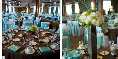 Tiffany Blue And Brown Bathroom Accessories by Chocolate Brown Amp Blue Reception Decor Wedding Favors