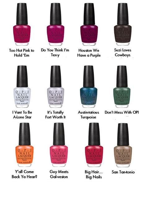 opi spring  texas nail polish collection