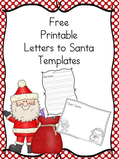 santa letter templates  homeschool village