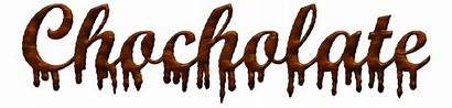 Chocolate Melting Words Text Dripping Font Letters