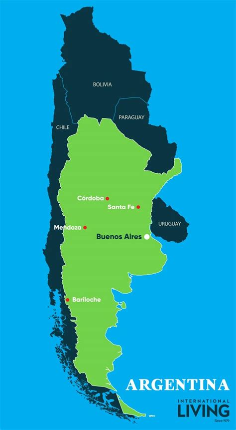 argentina map  argentina international living
