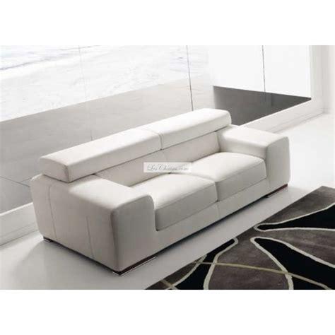 canape blanc cuir canapé en cuir design sirio par rosini et canapés cuir