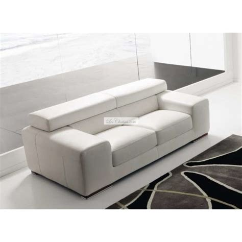canape blanc cuir design canapé en cuir design sirio par rosini et canapés cuir