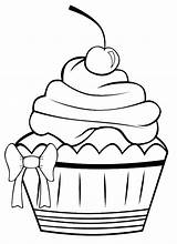 Muffin Coloring Clipart Colorare sketch template