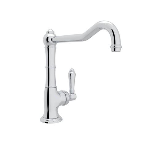 country kitchen faucet shop rohl country kitchen polished chrome 1 handle deck 2795
