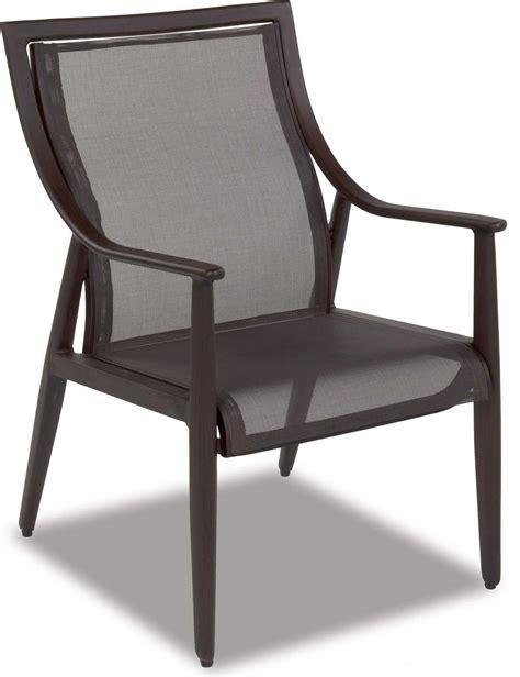 cast classics sutton sling cast aluminum dining arm chair