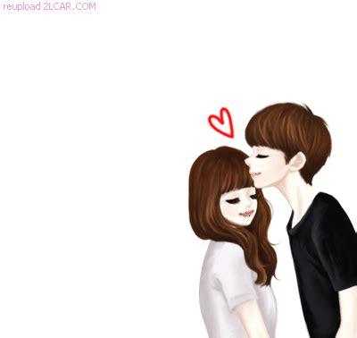 kartun animasi korea romantis cium kening asdsa   anime love couple cute couples