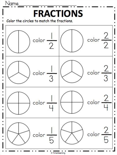 Fraction Worksheet  Color The Fraction Madebyteachers