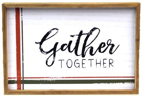 Sturdy box suitable for transport and gift.you can hang it with one nail.easily hangable product doesn't need any. www.seagullbook.com: Gather Together Wall Art White Wood 12 inch