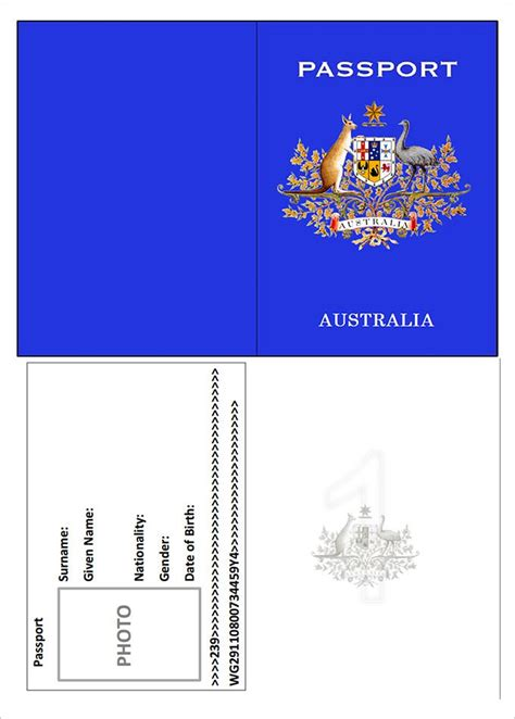 Passport Template Passport Template 19 Free Word Pdf Psd Illustrator