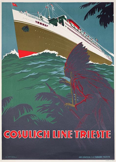 vintage boat poster ship poster classics  france italian  french boat posters