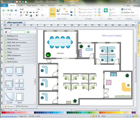 Floor Plan Designer Software Freeware by Office Floor Plan Software