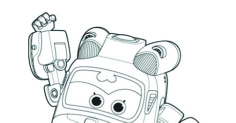 Mira Super Wings Coloring Pages Sketch Coloring Page