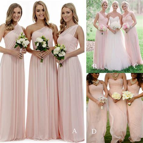 Long Bridesmaid Dresslight Pink Bridesmaid Dresses