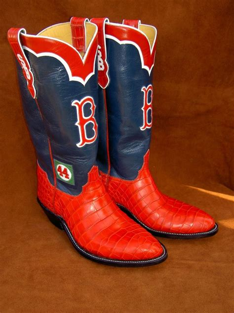 hand  boston red sox boots  alligator lowers