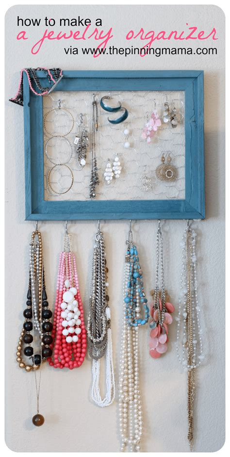 diy     jewelry organizer  pinning mama