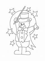 Magician Coloring Pages Mycoloring Printable sketch template
