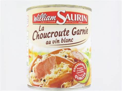 cuisiner choucroute cuite choucroute conserve régime pauvre en calories