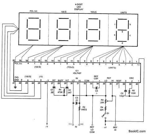 led digital voltmeter circuit diagram wiring diagram and
