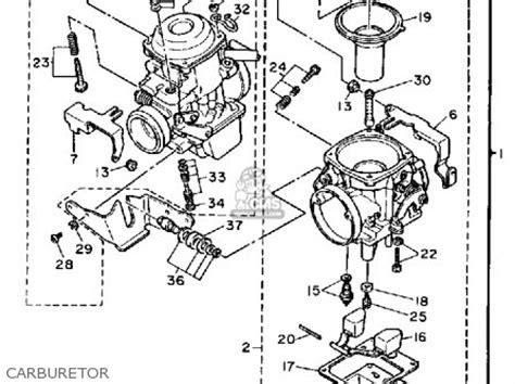 yamaha xvt virago  parts list partsmanual