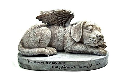 Dog Memorial Angel Pet Statue, Sleeping Angel Dog With