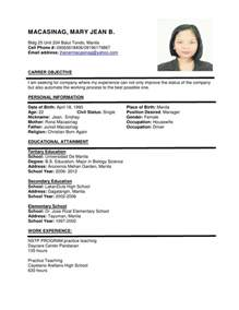 best resume format 2015 philippines holiday resume format sle more exles