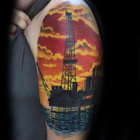 oilfield tattoos  men oil worker ink design ideas