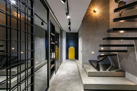 cool industrial style duplex loft mixes colours
